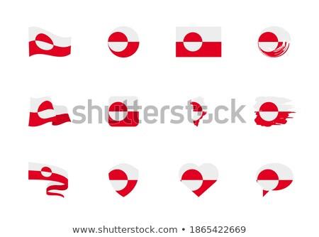 Greenland flat heart flag stock photo © Amplion