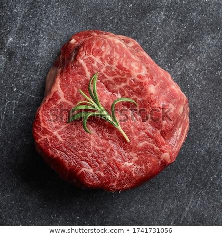 Ruw biefstuk voedsel witte vers Stockfoto © M-studio