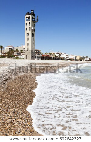 Nules Lighthouse and Mediterranean Sea Stock photo © benkrut