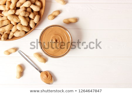 Wooden spoon of peanut butter Stock photo © Alex9500