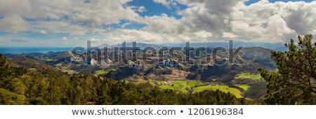 España paisaje fondo verde montanas piedra Foto stock © lunamarina