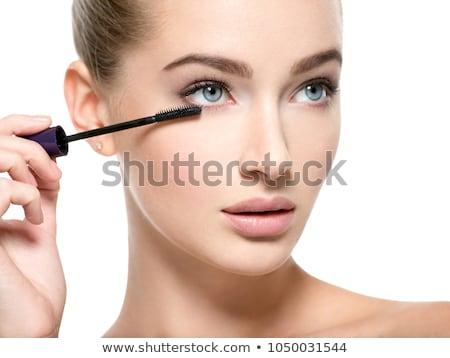 Meisje wimper mascara geïsoleerd witte Stockfoto © svetography