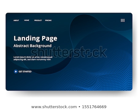 cycling   modern line design style web banner stock photo © decorwithme