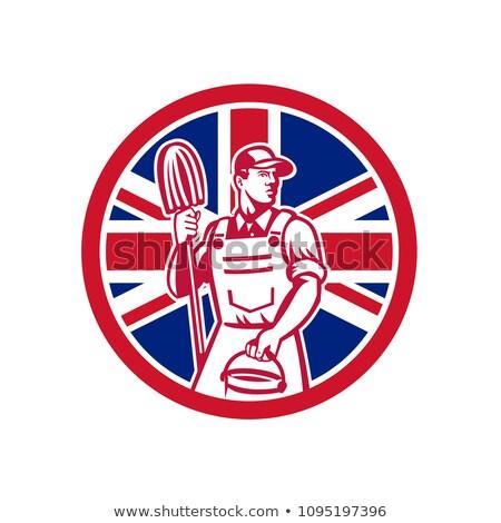 İngilizler profesyonel temizleyici İngiliz bayrağı bayrak ikon Stok fotoğraf © patrimonio