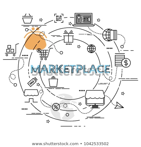 Marketplace and payment poster vector illustration Stock photo © robuart