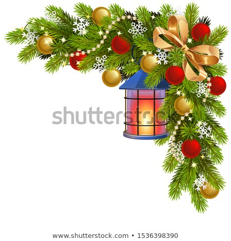 Vector Fir Corner with Candlestick Stock photo © dashadima