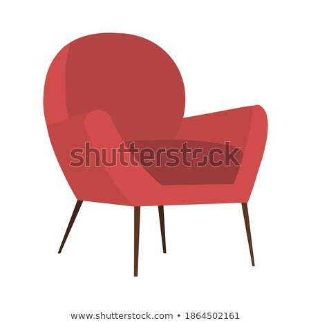 red armchair isolated upholstered furniture vector illustration stock photo © maryvalery