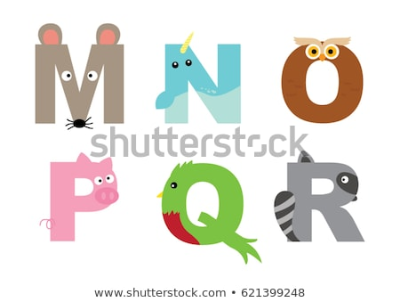 Animal Alphabet M, N, O and P Stock photo © zsooofija