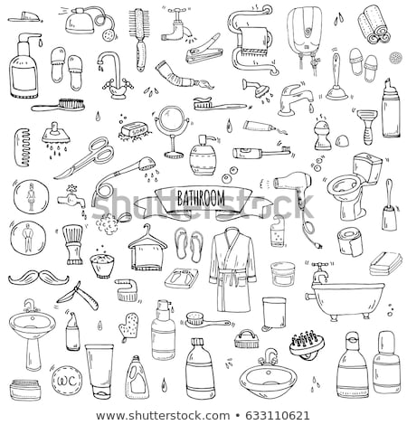 lavagem · cuidar · símbolos · vetor · têxtil - foto stock © balabolka