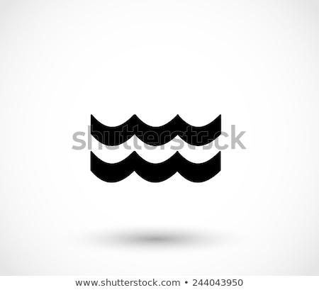 shark sign sea water wave icon Stock photo © blaskorizov