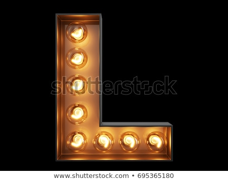 Golden font letter L 3D Stock photo © djmilic