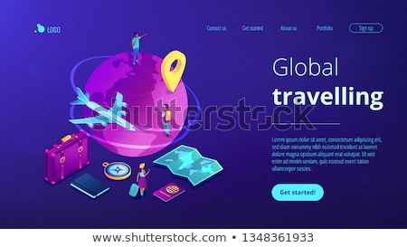 global travelling isometric 3d concept illustration stock photo © rastudio