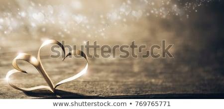 Kettő szívek valentin nap szeretet absztrakt szív Stock fotó © SArts