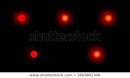 Aching place. Pain circle. Set of red rings, symbol of pain. Stock photo © AisberG