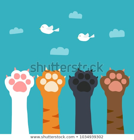 dog or cat footprint symbol shaped cloud stock photo © make