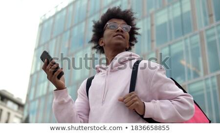 Stockfoto: Zakenman · business · centrum · mobiele · telefoon · afbeelding