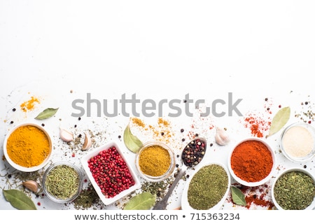 set of various spices and herbs stock photo © karandaev