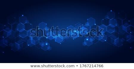 Kék hatszög struktúra szalag 3d illusztráció terv Stock fotó © limbi007
