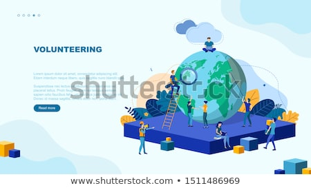 Humanitarian aid concept vector isometric illustration. Stock photo © RAStudio