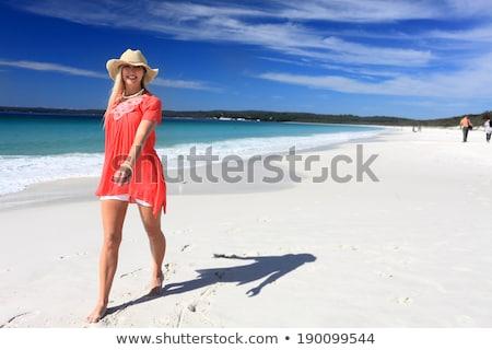 Suntanned woman on beautiful beach in Australia Stock photo © lovleah