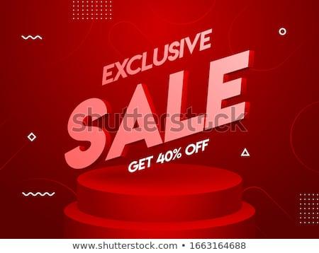 Mega vásár exkluzív termék ár csökkentés Stock fotó © robuart