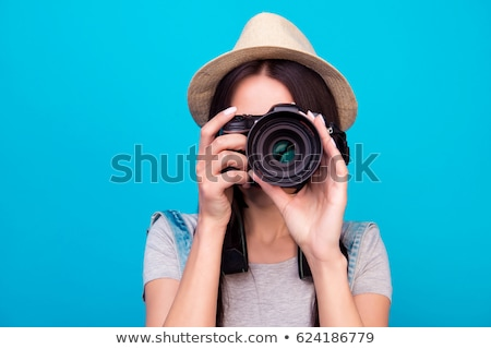 パパラッチ デジタル カメラ 男性 画像 ストックフォト © robuart