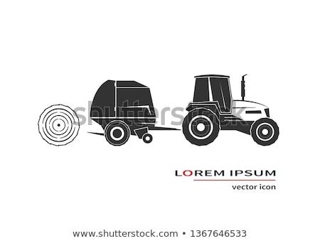 Stockfoto: Trekker · agrarisch · geïsoleerd · iconen · vector