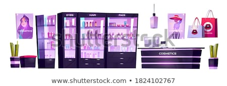 Shopping Posters Beauty Stand Cosmetics Vector Stock photo © robuart