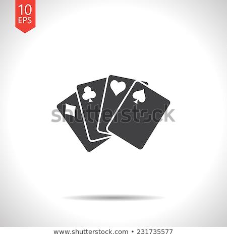 Playing Cards Flat Icon Stock photo © smoki