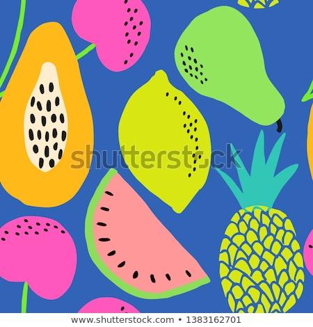 meyve · mavi · renk · üst · görmek - stok fotoğraf © xamtiw
