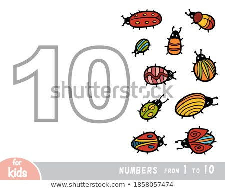 Counting to ten with many bugs Stock photo © colematt