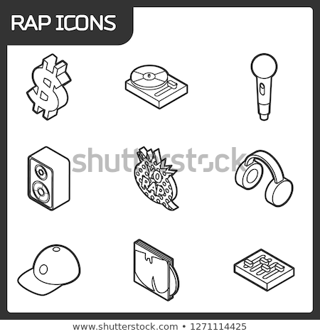 rap outline isometric icons stock photo © netkov1