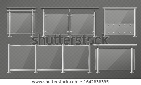 Stock fotó: Vektor · szett · kerítés · terv · rajz · grafikus
