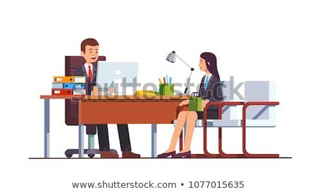 üzlet találkozó ügyfél igazgató iroda vektor Stock fotó © robuart