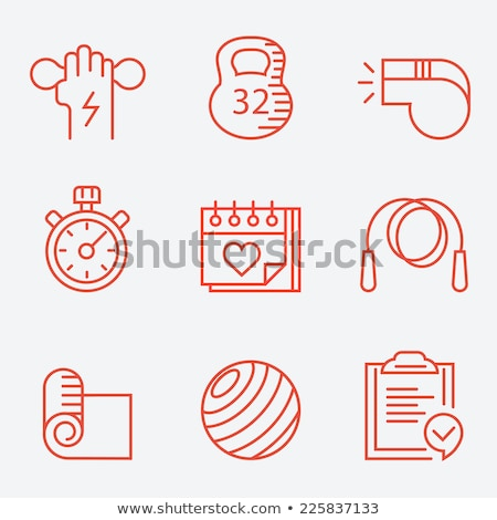 Flat design icon of rope Stock photo © angelp