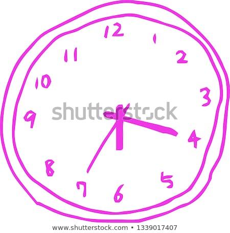 Kleurrijk arme schets horloge ruw klok Stockfoto © Blue_daemon