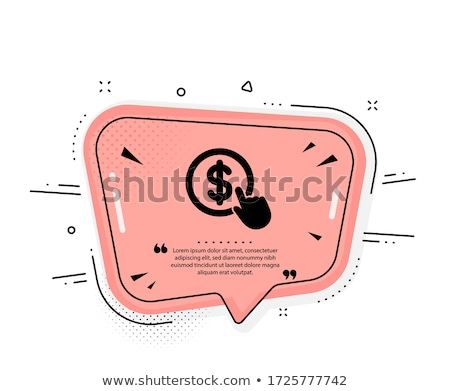 Hand Click simple icon. Currency exchange sign. Cursor pointer s Stock photo © kyryloff