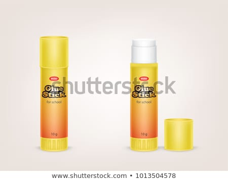 Closed Glue Stick Packaging Template Mockup Vector Photo stock © pikepicture