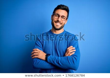mavi · gözlük · gölge · sarı · moda - stok fotoğraf © filipw