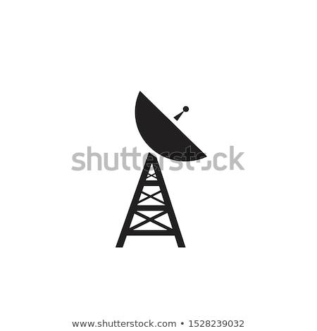Parabolaantenna kommunikáció izolált háló mobil ikon Stock fotó © kyryloff