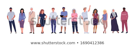Set of multicultural character Stock photo © bluering