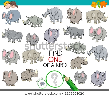 one of a kind game for kids with animals Stock photo © izakowski