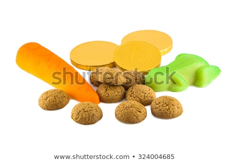 Typical dutch sweets for Sinterklaas - pepernoten (ginger nuts) Stock photo © Melnyk