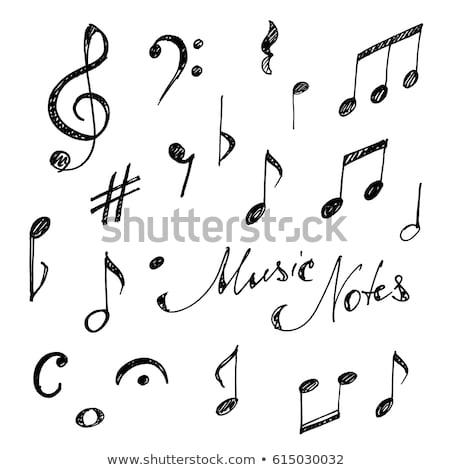 рисованной музыку шаблон прибыль на акцию 10 гитаре Сток-фото © netkov1