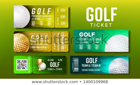 Stylish Design Tickets Visit Golf Game Set Vector Stock photo © pikepicture