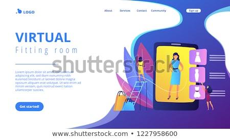 Faktyczny pokój wektora lądowanie strona szablon Zdjęcia stock © RAStudio