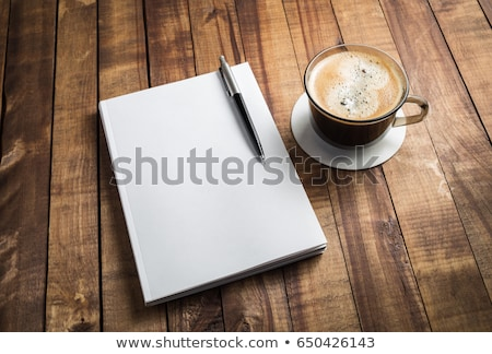 coffee and diary stock photo © jamdesign