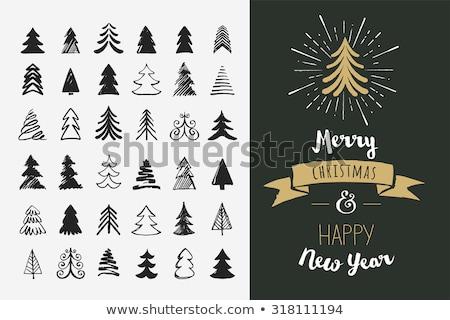klasszikus · vektor · kézzel · rajzolt · karácsonyi · üdvözlet · különböző · szezonális - stock fotó © marish
