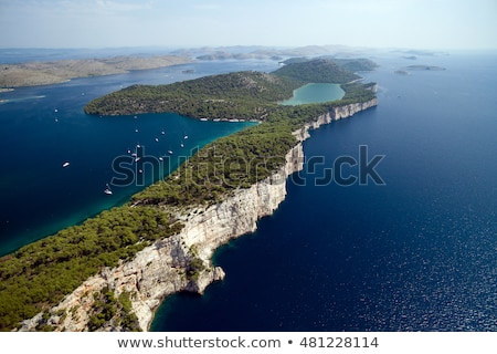 cliffs of telascica nature park on dugi otok island stock photo © xbrchx