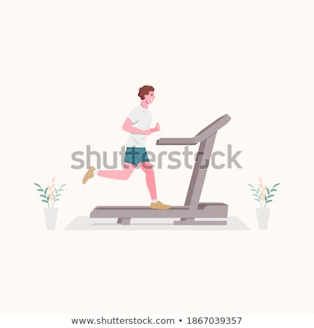 Run Sport Club. Jogging Man. Fast Jogger. Vector Stock photo © robuart